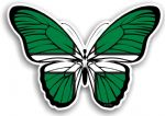 Beautiful Butterfly  With Devon West Country Flag Vinyl Car Sticker 130x90mm